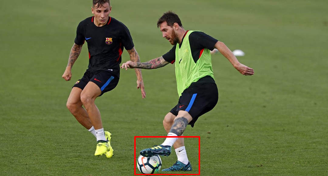 80b3bc1c1e18 Messi Trains In Unreleased Signature Adidas Nemeziz Ocean Storm ...