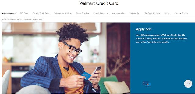 Walmart Credit Card Login details
