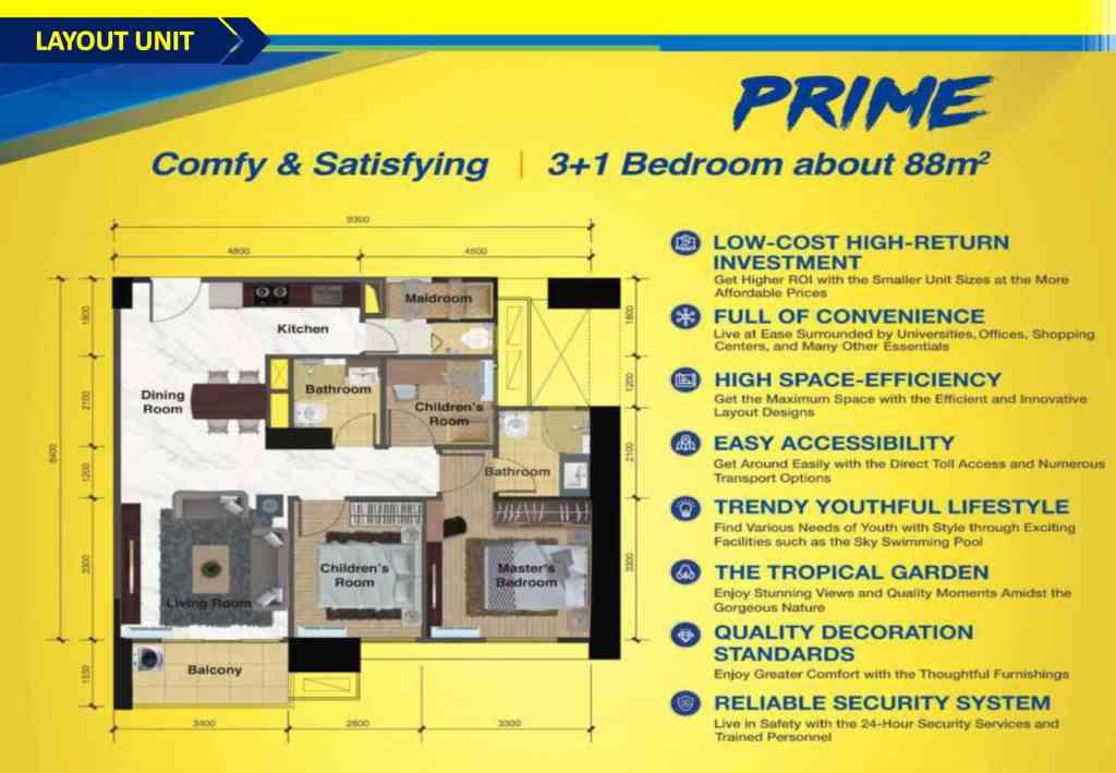 Denah Apartemen Sky House Tipe Prime