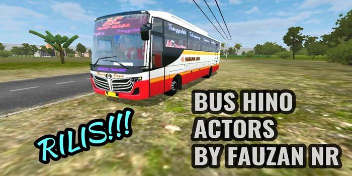 mod bus hino actors bussid