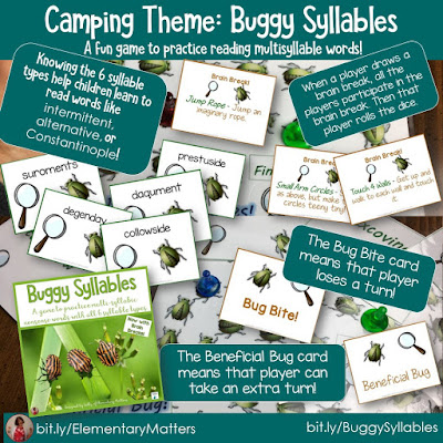 https://www.teacherspayteachers.com/Product/Reading-Multisyllable-Nonsense-Words-Camping-Theme-thriftythursday-722225?utm_source=Camping%20blog%20post&utm_campaign=Buggy%20Syllables
