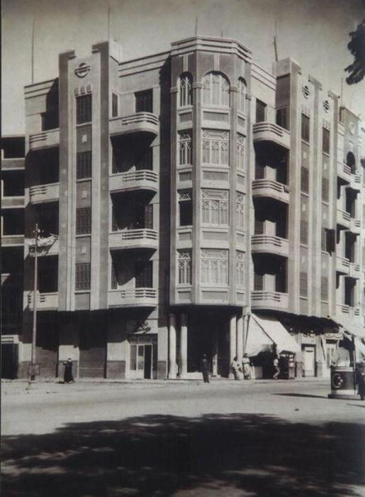 عمارة يونس سنة 1938 بشارع الملك فؤاد الأول - شارع الجمهورية Damanhour Younis Building 1938