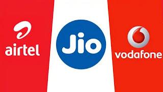 Jio Airtel Vodafone Prepaid tariff plan to get 3GB data daily