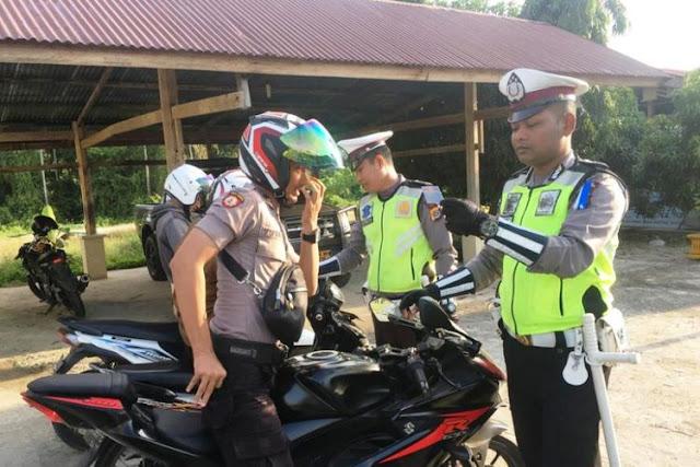 Polisi di Aceh Utara Ditilang di Kantornya Sendiri