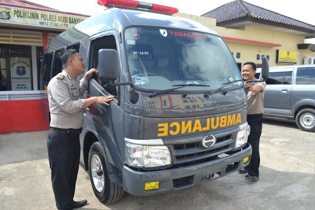 Polres Muba Terima Damkar Dan Ambulan