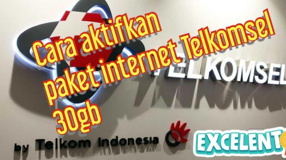 cara aktifkan paket internet Telkomsel 30gb