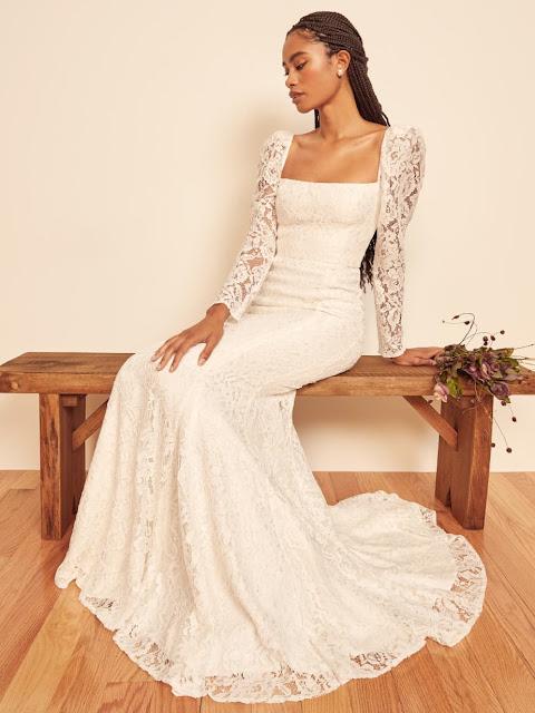 Annika dress long sleeve-wedding dress-bridal fashion-K'Mich Weddings-Philadelphia PA-Reformation.com