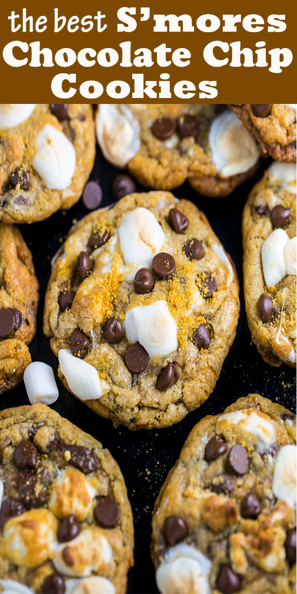 S'mores Chocolate Chip Cookies #S'mores #Chocolate #Chip #Cookies #S'moresChocolateChipCookies