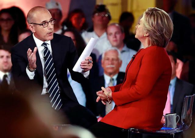 Lauer interviews Hillary Clinton last September