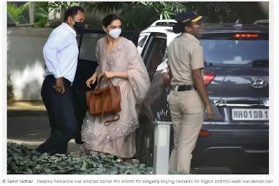 Bollywood star Deepika Padukone has questioned the drug probe