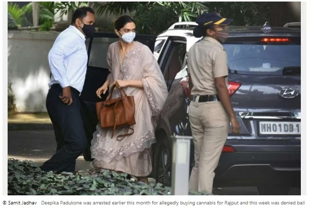 Bollywood star Deepika Padukone has questioned the drug probe