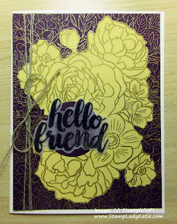 Card featuring Paper Piecing and made with Stampin'UP!'s large flower background stamp: Breathtaking Bouquet
