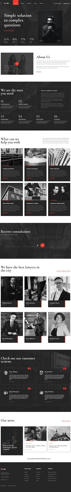 Lawyers and Law Firm Website Template