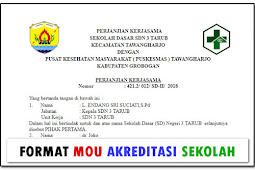 Format MOU Untuk Kegiatan Akreditasi Sekolah