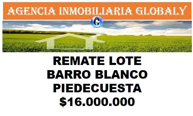 REMATE DE LOTE EN  BARRO BLANCO DE PIEDECUESTA
