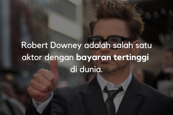 Robert Downey dibayar mahal