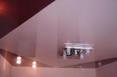 Объявления Кропоткин - Красный и светло-розовый натяжной потолок
