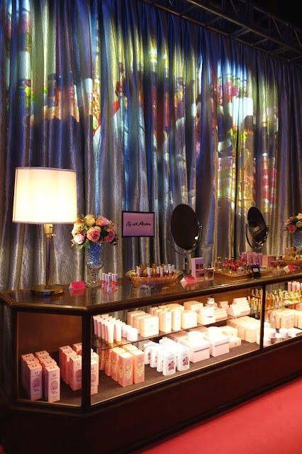 B. Altman Department Store, beauty counter, TV set, The Marvelous Mrs. Maisel TV set, props
