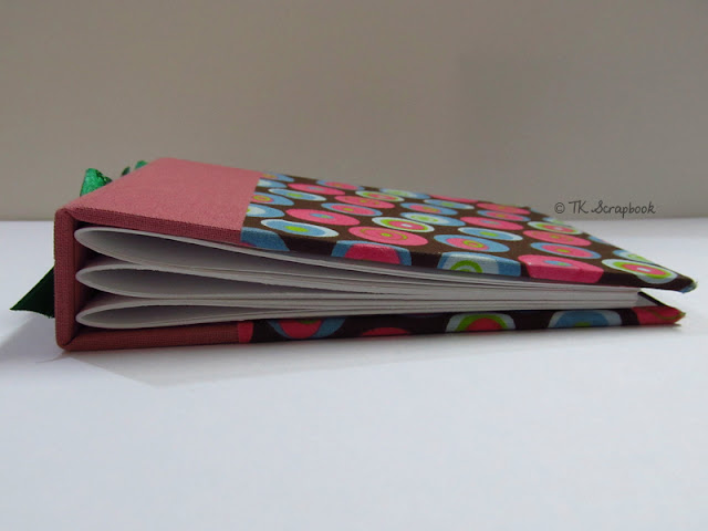 mini-album scrapbook encadernacao borboleta aparente