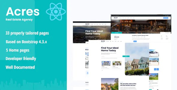 Best Real Estate React Template