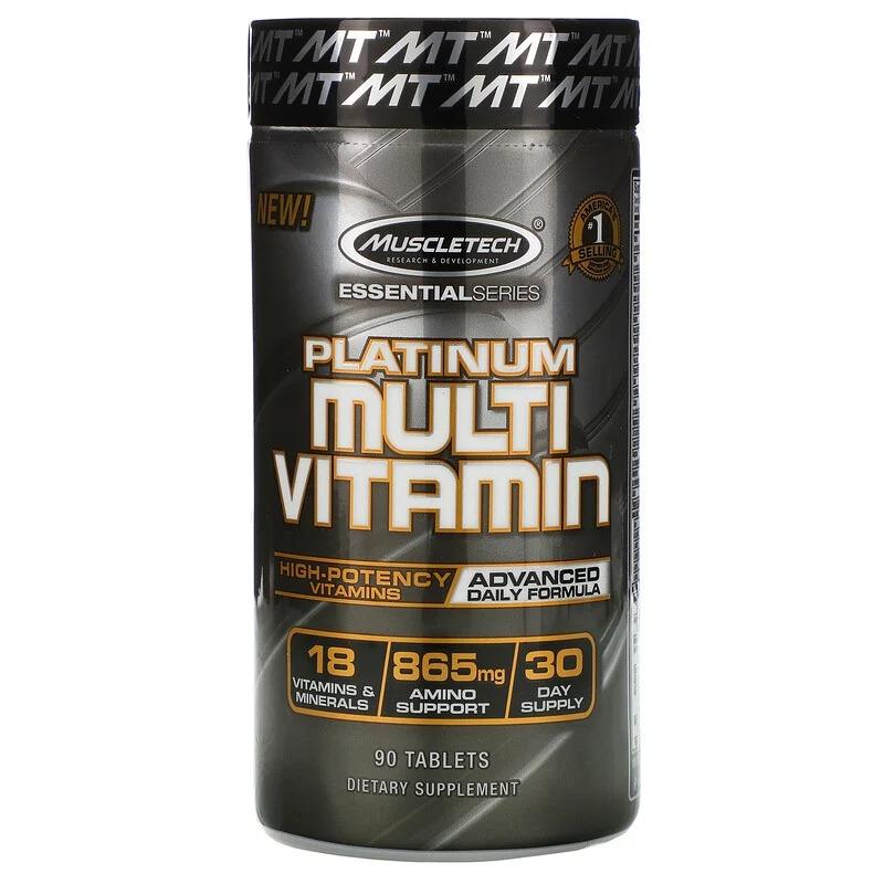 Muscletech, Essential Series, Platinum, мультивитамины, 90 таблеток