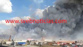 Van 27 muertos tras explosion de mercado de San Pablito en Tultepec EdoMex