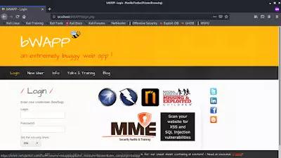 bWAPP login page