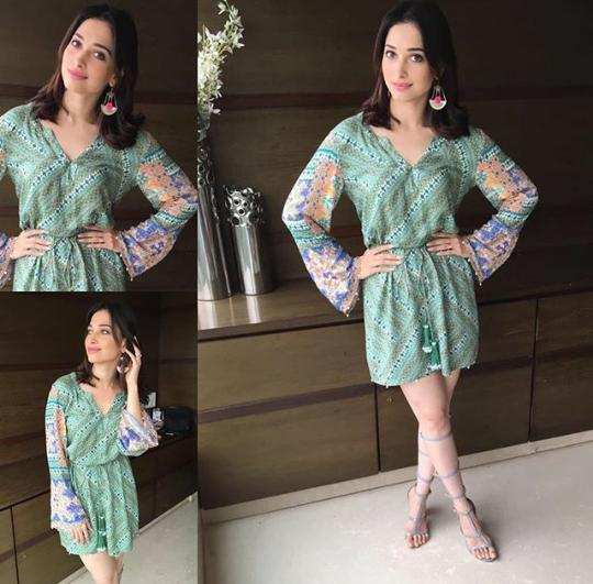 Tamanna Green Dress Tutak Tutak Tutiya Promotions