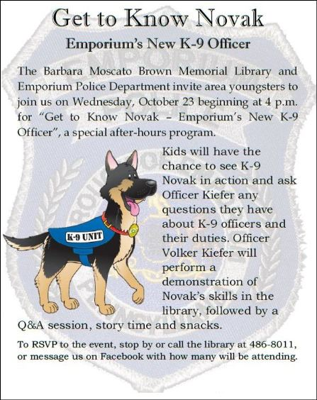 "10-23 ""Get to Know Novak"" Emporium Library"