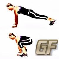 cara membentuk otot bahu plank jump in