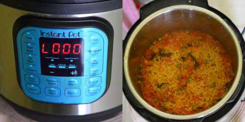 How to make tomato rice in instant pot