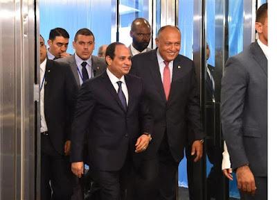 الرئيس عبدالفتاح السيسى, نيويورك, فعاليات الجمعية العامة, الامم المتحدة, الرئيس السيسى يغادر القاهرة,