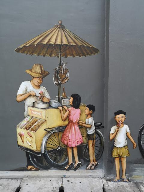 Chinatown mural - Cantonese Opera