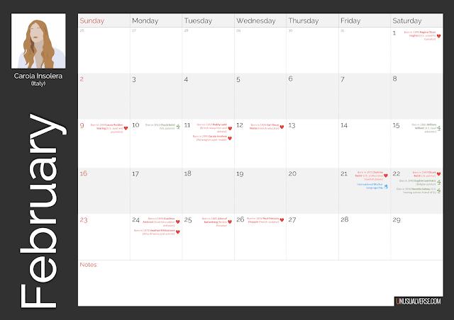 Deaf Calendar February 2020