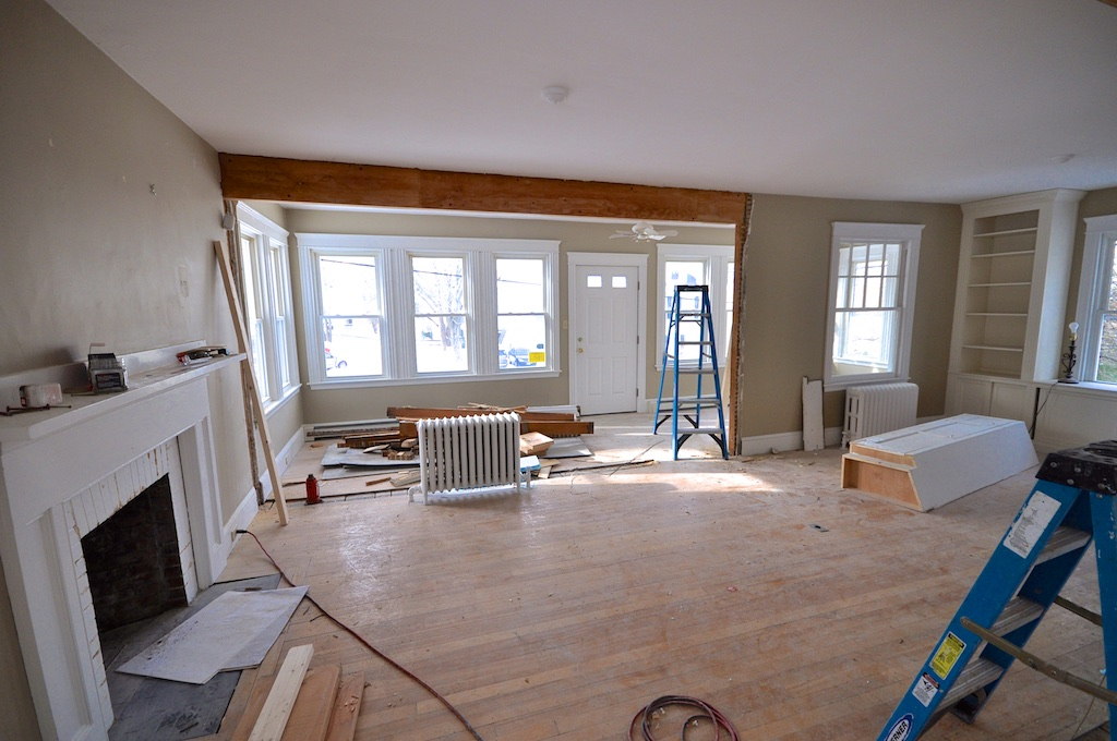Sopo cottage now that 39 s an open floor plan for Difference between living room and family room