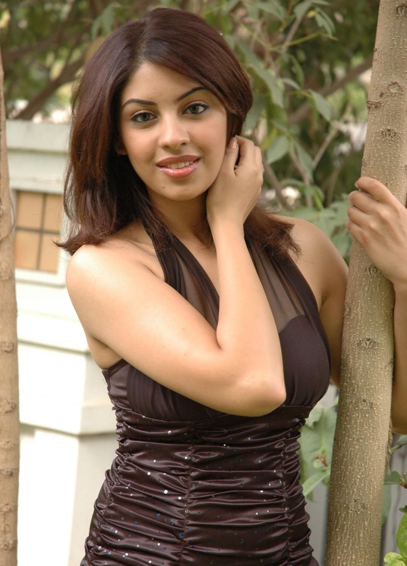 Cute richa in brown dress
