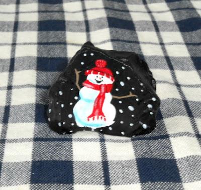 DIY Rock Painting - Christmas Snowman