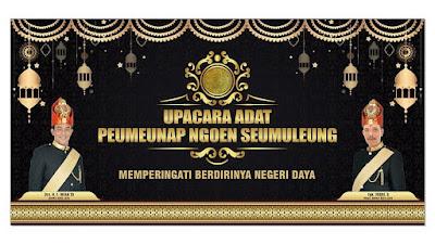 Upacara Peuemeunap dan Seumeuleung Raja Daya, Selasa, 13 Agustus 2019, Di komplek makam poeteumeureuhom Daya, Gle Jong, Lamno, Aceh Jaya