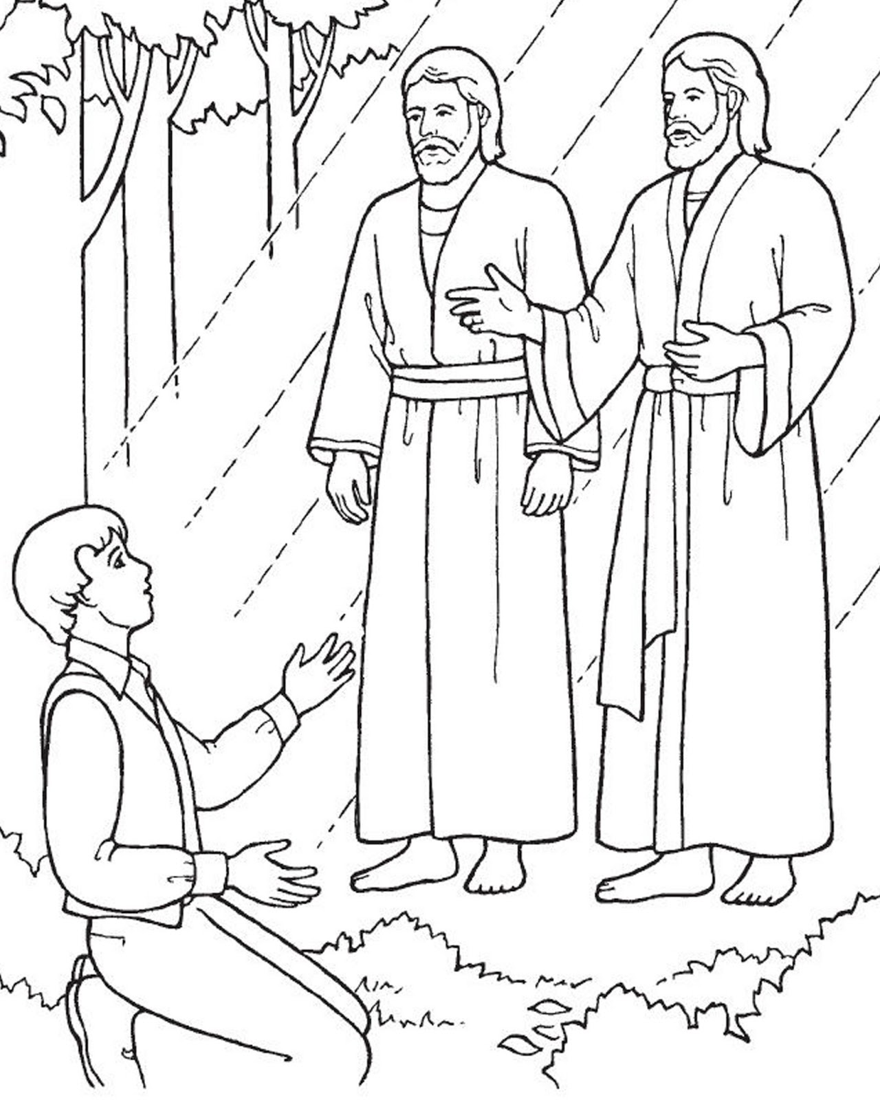 Joseph Smith First Vision Coloring Page : joseph, smith, first, vision, coloring, Coloring, Pages:, Joseph, Smith, First, Vision