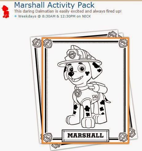 Marshall De Paw Patrol O Patrulla Canina Actividades Para