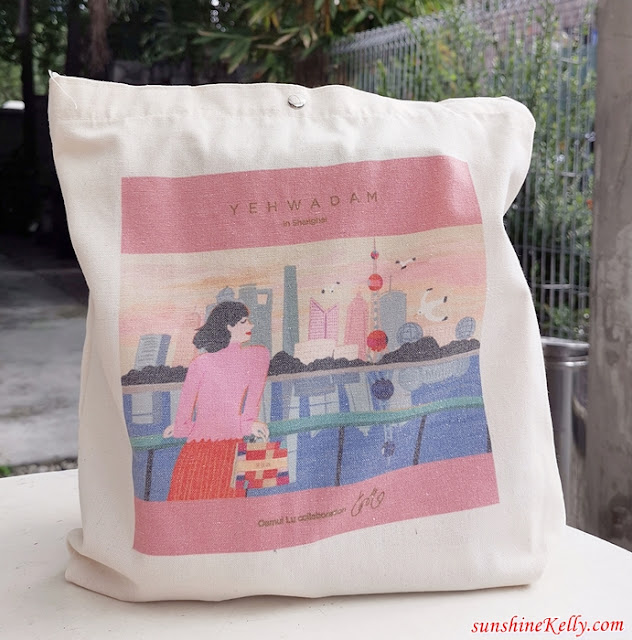 Free Tote Bag, Tote Bag, Yehwadam in Shanghai, Yehwadam First Serum, Skin's Qi Balancing, The Face Shop, The Face Shop Malaysia, Beauty, Skincare, Yehwadam, Why Yehwadam First Serum, 5 benefits of yehwadam, women applying face serum,