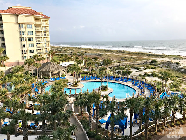 The Ritz-Carlton offers 1 1/2 miles of private beaches, a lush full service spa, an 18 hole PGA championship golf course, multi-level pool deck, 5 on-site restaurants including the AAA 5-Diamond restaurant Salt, and an exclusive club just for the kiddos- Ritz Kids.