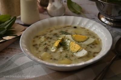 Zupa szczawiowa z ryżem – kuchnia podkarpacka