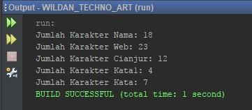 Contoh penggunaan fungsi length String pada Java