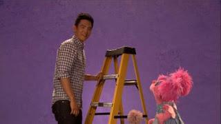 John Cho, celebrity, Abby Cadabby, the Word on the Street sturdy, Sesame Street Episode 4404 Latino Festival season 44