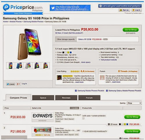 Compare Smartphone Prices in the Philippines