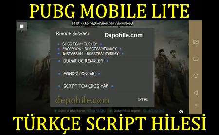 Pubg Mobile Lite Boss Team Script Türkçe Süper Hileler Mart 2020