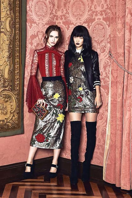 Alice + Olivia Fall 2017 Renaissance inspired style