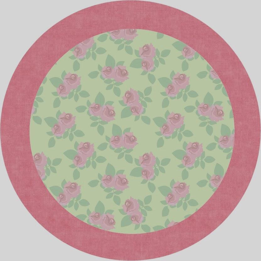 Flores Rosa en Fondo Verde: Etiquetas para Candy Bar, para Imprimir ...
