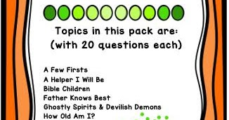 Bible Fun For Kids: Quick Bible Quiz Part 2